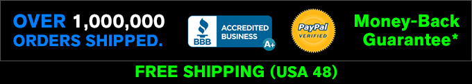 Money-Back Guarantee* - Free Shipping (USA 48)