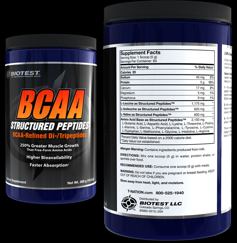 BCAA Structured Peptides Supplement Facts
