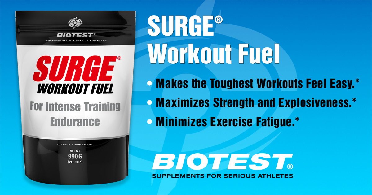 biotest.t-nation.com - Surge® Workout Fuel - For Intense Training Endurance