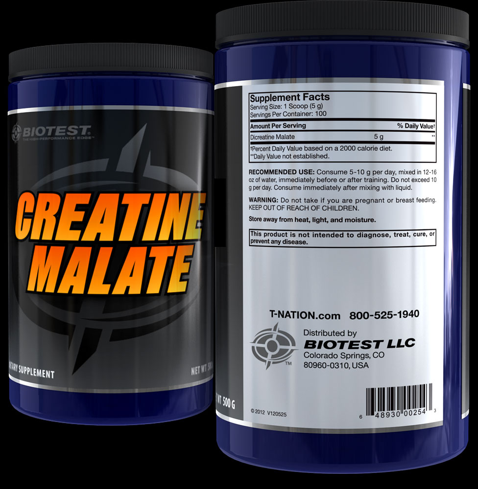 Creatine Malate Supplement Facts