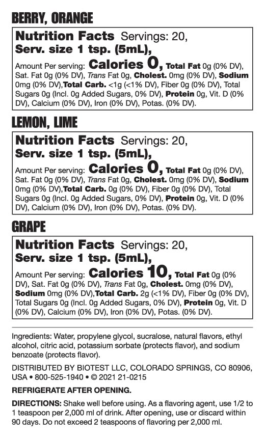 Intensified Flavors Nutrition Facts